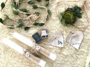 Handmade ceremony details for L&H
