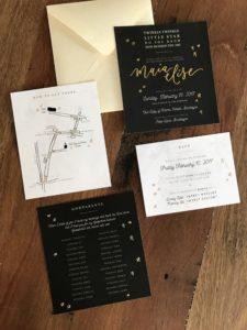 Maia Elise's custom baptism invite